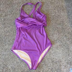 J. Crew Purple Swimsuit